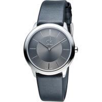 CK Calvin Klein Minimal 俐落時尚腕錶 K3M221C4 灰色