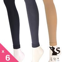 【喜兒思棉織】240丹彈力 九分褲襪-素黑色(一組6雙)