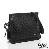 Diana Janes 牛皮壓紋流蘇斜背包