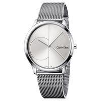 Calvin Klein CK Minimal 經典大LOGO腕錶 銀 40mm K3M2112Z