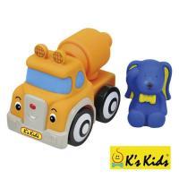 〔 香港 Ks Kids 〕益智玩具系列 - 彩色安全積木︰艾文兔水泥攪拌車 SB00291