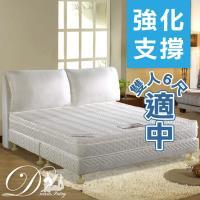 【睡夢精靈】戰地琴人蜂巢式獨立筒床墊雙人加大6尺