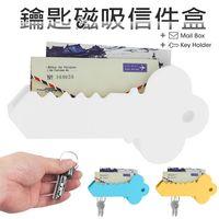 創意大鑰匙磁力收納器 鑰匙信件盒 名片收納