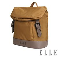 ELLE 時光旅人系列-大容量10吋IPAD 直式休閒手提/斜背包- 日光駝