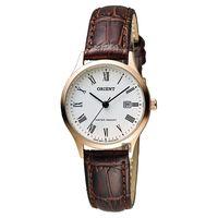 ORIENT 東方錶 優雅復刻羅馬數字石英女錶 白x玫瑰金框 28mm FSZ3N006W