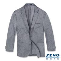 ZENO傑諾 精品舒適休閒西裝外套‧灰色L-3L