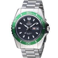 ORIENT 東方錶 WATER RESISTANT系列 200m潛水機械錶 FEM75003B 綠
