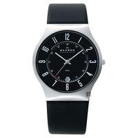 SKAGEN 經典系列 超薄24小時顯示腕錶 黑 38mm 233XXLSLB