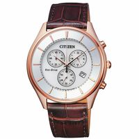 CITIZEN 星辰 光動能 日系潮流三眼計時腕錶(銀/40mm) AT2362-02A