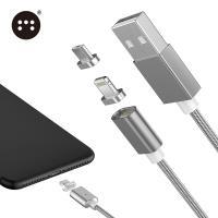 原裝Moizen 二合一 Apple Lightning  MICRO USB 接頭 磁吸充電線 傳輸線