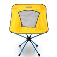 【OutdoorBase】AMOEBA變形蟲-360度輕量鋁合金旋轉椅-琥珀黃