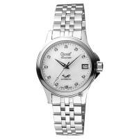 Ogival愛其華 優雅真鑽機械女錶 珍珠貝x銀 32mm 3353AJBS