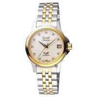 Ogival愛其華 優雅真鑽機械女錶 珍珠貝x雙色版 32mm 3353AJBSK