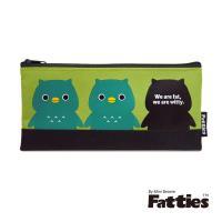 任-【Mini Beanie】Fatties筆袋/收納包-貓頭鷹(綠色)