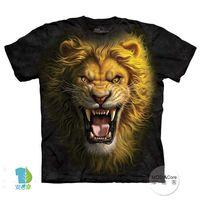 【摩達客】(預購)( 男童/女童裝)美國進口The Mountain 亞洲獅王 純棉環保短袖T恤