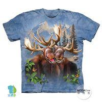 【摩達客】(預購)( 男童/女童裝)美國進口The Mountain 麋鹿哦耶 純棉環保短袖T恤