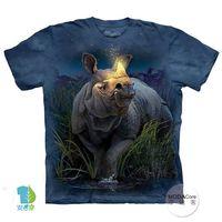 【摩達客】(預購)美國進口The Mountain 麒麟犀牛 純棉環保短袖T恤