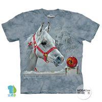 【摩達客】(預購)美國進口The Mountain 聖誕蘋果馬 純棉環保短袖T恤