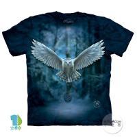 【摩達客】(預購)美國進口The Mountain 喚之貓頭鷹 純棉環保短袖T恤