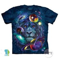 【摩達客】(預購)美國進口The Mountain 宇宙獅子 純棉環保短袖T恤