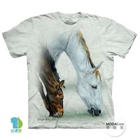【摩達客】(預購)( 男童/女童裝)美國進口The Mountain 馬兒吃草 純棉環保短袖T恤