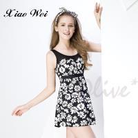 梅林品牌 時尚連身裙泳裝 NO.M6452(L-QL)