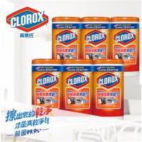 【美國CLOROX 高樂氏】廚房殺菌濕紙巾柑橘香75片(6入/箱)