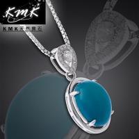 KMK天然寶石【台灣藍寶】6.60克拉-項鍊