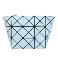 ISSEY MIYAKE 三宅一生 BAOBAO幾何方格3x5霧面化妝包(粉藍)