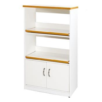 【顛覆設計】潮濕剋星-防水2x4尺電器櫃/餐櫃-雙層-純白色