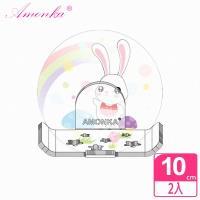 AMONKA 3R神奇無痕掛勾長型星星造型香皂盤(彩虹兔)2入