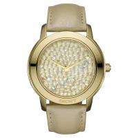 DKNY 閃亮泡泡晶鑽腕錶 金 43mm NY8435