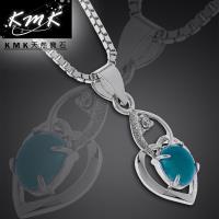 KMK天然寶石【台灣藍寶】1克拉-項鍊