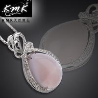 KMK天然寶石【甜蜜華爾滋】巴西天然芙蓉玉髓-項鍊