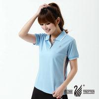 【遊遍天下】MIT女款吸濕排汗抗UV機能POLO衫S139(水藍)