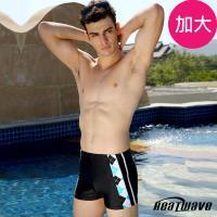 Heatwave熱浪 加大男泳褲 四角專業泳褲-藍天格調-181