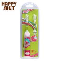 【BabyTiger虎兒寶】HAPPY MET 兒童教育型語音電動牙刷 (附替換刷頭X1) - 粉精靈款