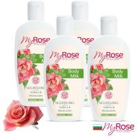 保加利亞My rose玫瑰彈潤亮澤潤膚乳液250ml超值四入
