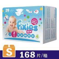 Fixies寶貝愛因斯坦尿布 長效型棉柔紙尿褲S~2號 28片x6包 箱