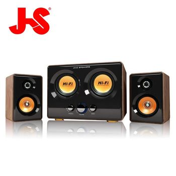 JS 淇譽電子-震天雷 雙低音全木質多媒體喇叭 JY3241
