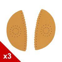 糊塗鞋匠 優質鞋材 H01 3mm牛皮蝴蝶腳窩墊 3雙