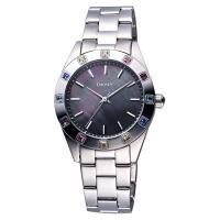 DKNY 黑珍珠貝彩色晶鑽腕錶 黑彩貝 36mm NY8718