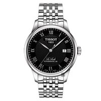 TISSOT天梭 Le Locle 80小時動力儲存機械腕錶 黑 39mm T0064071105300
