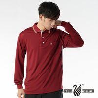 【遊遍天下】MIT男款抗UV吸濕排汗機能POLO長衫L075(磚紅)