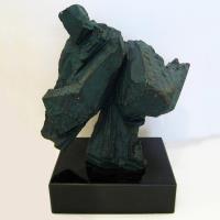 【開運陶源】*創意時尚歐風*青銅色太極砂岩雕塑(送大理石台座)