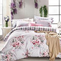 Betrise花影纏綿 雙人環保印染德國防螨抗菌100%精梳棉四件式兩用被床包組
