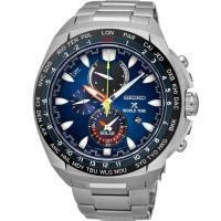 SEIKO 精工 PROSPEX太陽能GMT兩地時間男錶- 炫藍/SSC549P1