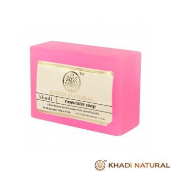 即期特賣~印度Khadi-草本玫瑰水手工精油香皂(6入特惠組)