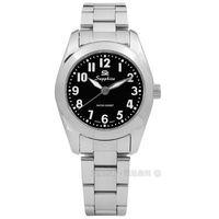 SE Sapphire / SE013L01B / 簡潔大方夜光藍寶石水晶不鏽鋼手錶 黑色 29mm