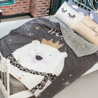 BELLE VIE 純棉活性印染單人床包涼被三件組 北極熊